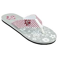 Women's Texas A&M Aggies Floral Flip Flop Sandals