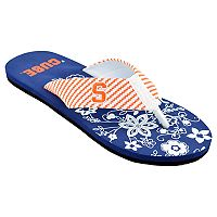 Women's Syracuse Orange Floral Flip Flop Sandals