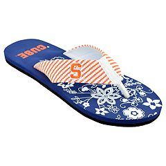 Women's Syracuse Orange Floral Flip Flop Sandals