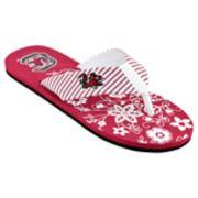 Women's South Carolina Gamecocks Floral Flip Flop Sandals