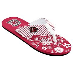 Women's South Carolina Gamecocks Floral Flip Flop Sandals