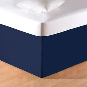 C&F Home Solid Blue Bedskirt