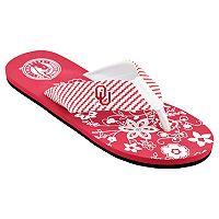 Women's Oklahoma Sooners Floral Flip Flop Sandals