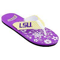 Women's LSU Tigers Floral Flip Flop Sandals