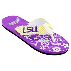 Women's LSU Tigers Floral Flip Flop Sandals