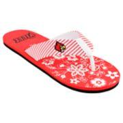 Women's Louisville Cardinals Floral Flip Flop Sandals