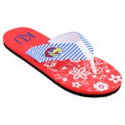Women's Kansas Jayhawks Floral Flip Flop Sandals