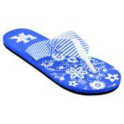Women's Kentucky Wildcats Floral Flip Flop Sandals