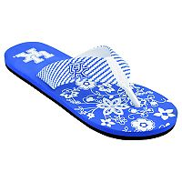 Women's Kentucky Wildcats Floral Flip Flop Sandals