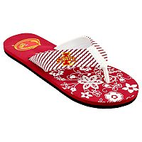 Women's Iowa State Cyclones Floral Flip Flop Sandals