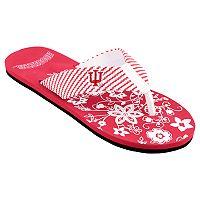 Women's Indiana Hoosiers Floral Flip Flop Sandals
