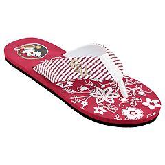 Women's Florida State Seminoles Floral Flip Flop Sandals