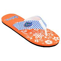 Women's Florida Gators Floral Flip Flop Sandals