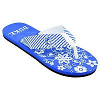 Women's Duke Blue Devils Floral Flip Flop Sandals