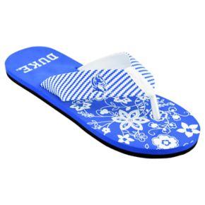 Women's Duke Blue Devils ... Floral Flip Flop Sandals