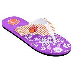 Women's Clemson Tigers Floral Flip Flop Sandals