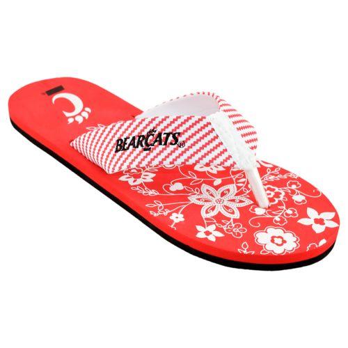 Women's Cincinnati Bearcats ... Floral Flip Flop Sandals