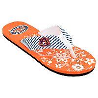 Women's Auburn Tigers Floral Flip Flop Sandals