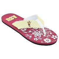 Women's Arizona State Sun Devils Floral Flip Flop Sandals