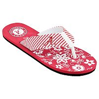 Women's Alabama Crimson Tide Floral Flip Flop Sandals