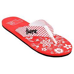 Women's Nebraska Cornhuskers Floral Flip Flop Sandals