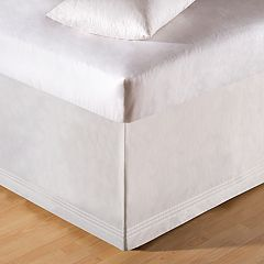C&F Home White Tailored Bedskirt