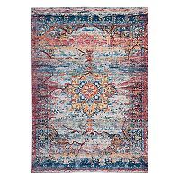 World Rug Gallery Versailles Distressed Traditional Medallion Rug