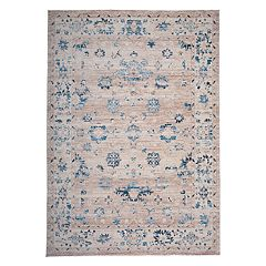 World Rug Gallery Versailles Distressed Vintage Floral Rug
