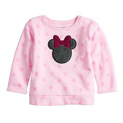 Disney's Minnie Mouse Baby Girl Softest Fleece Graphic Crewneck Sweatshirt By Jumping Beans®