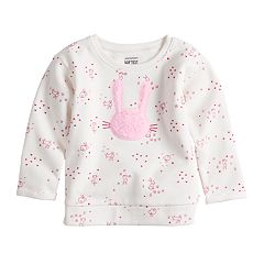 Baby Girl Jumping Beans® Softest Fleece Graphic Crewneck Sweatshirt