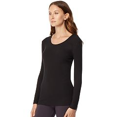 Women's HeatKeep Ribbed Scoopneck Base Layer Top