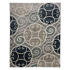 World Rug Gallery Vista Contemporary Scroll Print Rug