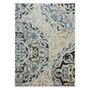 World Rug Gallery Vista Contemporary Distressed Floral Rug