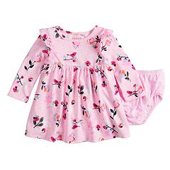 Baby Girl Jumping Beans® Printed Dress & Bloomers Set