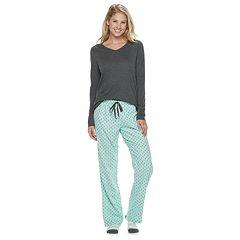 Women's SONOMA Goods for Life™ 3-Piece Tee, Pants & Sock Pajama Set