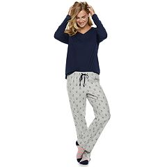 Women's SONOMA Goods for Life™ 3-Piece Tee, Pants & Sock Pajama Set
