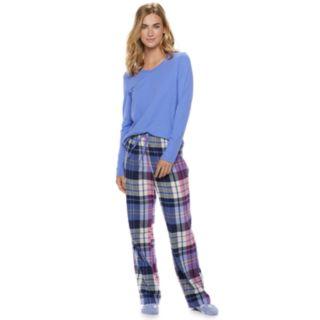Women's SONOMA Goods for Life? 3-Piece Tee, Pants & Sock Pajama Set
