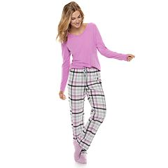 Petite SONOMA Goods for Life™ 3-Piece Tee, Pants & Sock Pajama Set