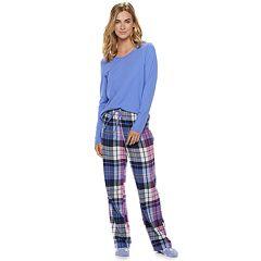 Petite SONOMA Goods for Life™ 3-Piece Tee, Pants & Sock Pajama Set