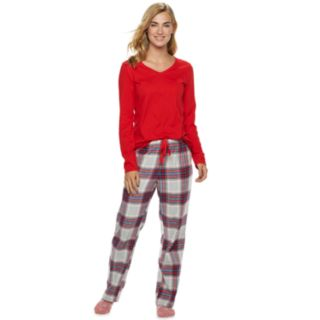 Petite SONOMA Goods for Life? 3-Piece Tee, Pants & Sock Pajama Set