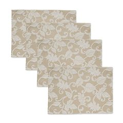 Celebrate Fall Together Solid Khaki Placemat 4-pack