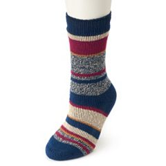 Women's Heat Holders Thermal Twist Striped Socks