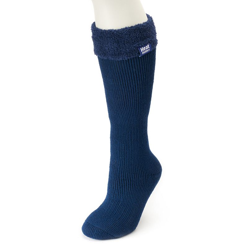 Women's Heat Holders Thermal Wellington Boot Socks, Multicolor These ultra cozy women's Heat Holders boot socks are the perfect accessories for your tall boots. Thermal construction Crew boot styling Fold-over decorative cuff Moisture wicking Fabric & Care Acrylic, nylon, polyester, elastic Machine wash Imported Size: One Size. Color: Multicolor. Gender: Female. Age Group: Adult. Material: Cotton.