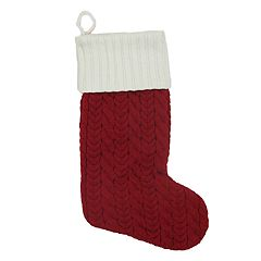 St. Nicholas Square® 21-in. Knit Monogram Christmas Stocking