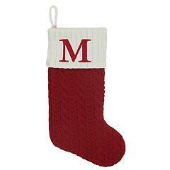 St. Nicholas Square® 21-in. Knit Monogram Christmas Stocking