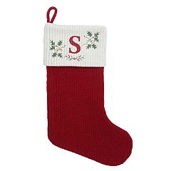 St. Nicholas Square® 21-in. Cross-Stitch Monogram Christmas Stocking