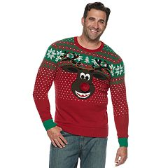 big tall reindeer poopermints christmas sweater
