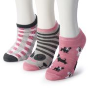 Women's 3-Pack Graphic Print Low Cut Novelty Socks