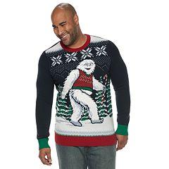 Big & Tall Abominable Snowman Christmas Sweater