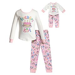 Girls 4-14 Dollie & Me 'Birthday Girl' Top & Bottoms Pajama Set & Matching Doll Pajamas